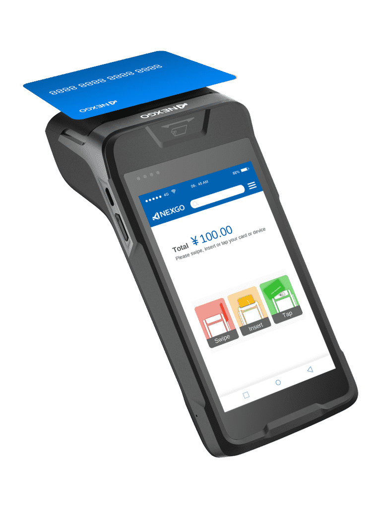 bezkontaktná platba kartou na platobnom termináli fiskalpro N86