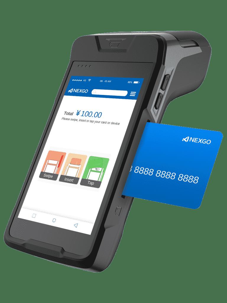platba kartou na platobnom termináli pomocou čipu